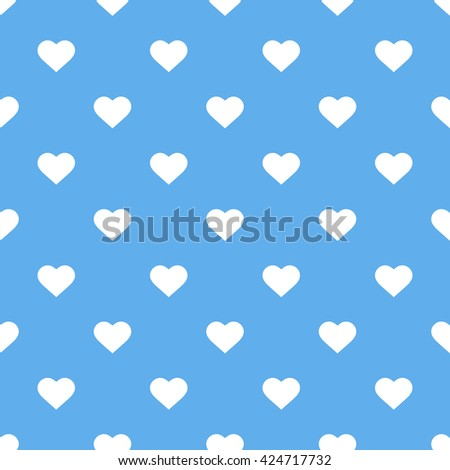 blue seamless heart pattern