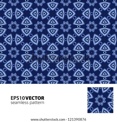 Blue seamless pattern. Vector illustration