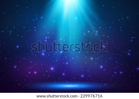blue shining top magic vector