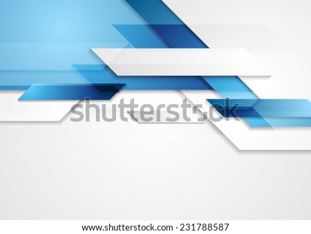 Blue shiny hi-tech motion background. Vector design