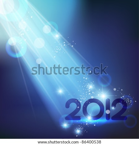 blue shiny 2012 vector design