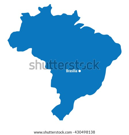 blue similar brazil map with