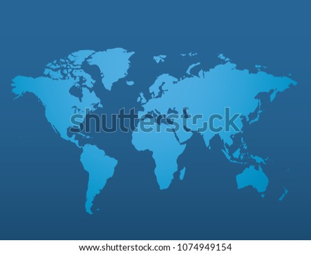 Blue world map background download free vector art stock graphics blue similar world map blank on dark background for infographic vector illustration gumiabroncs Choice Image