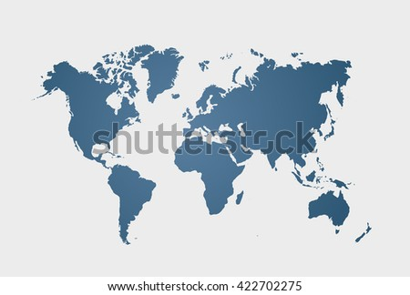 World Map Silhouette Download Free Vector Art Stock Graphics - Large world map print out