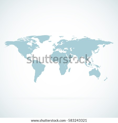 Blue similar world map vector