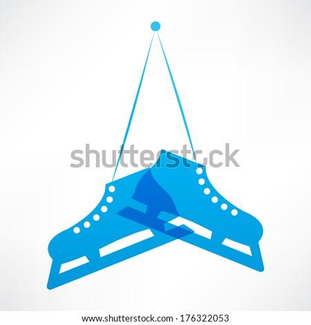 blue skates