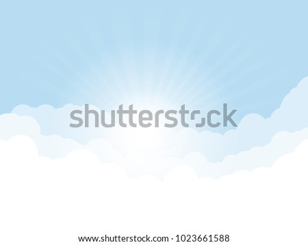 blue sky  and high clouds