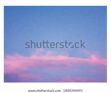 blue sky and orange clouds at