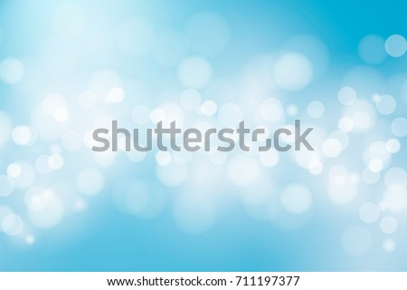 Blue sky background. Vector illustration. Abstract blur bokeh light effect