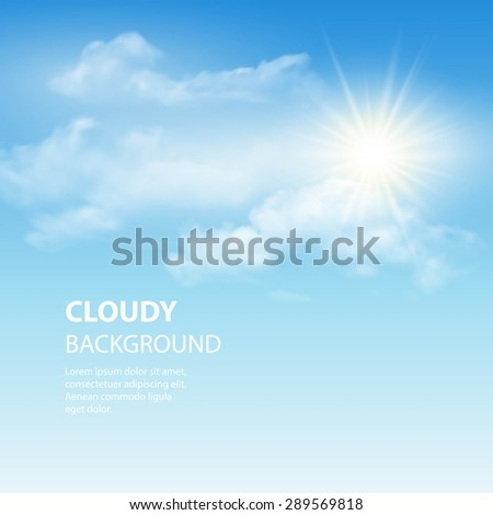 blue sky background with tiny