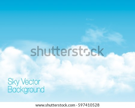 blue sky background with white