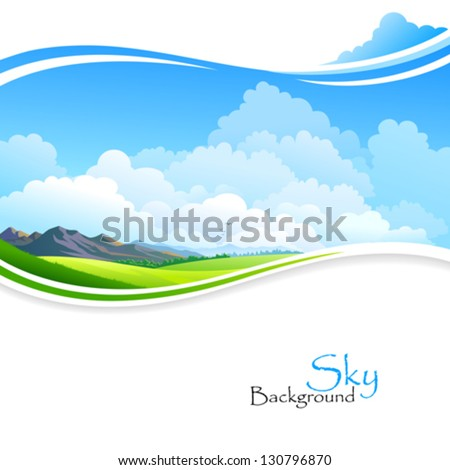 blue sky  green fields and