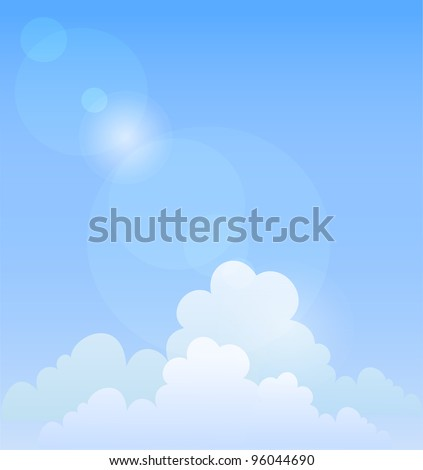 Blue sky. Vector background