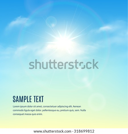 stock-vector-blue-sky-with-clouds-and-sun-with-rays-vector-background