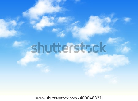 blue sky with clouds  perfect