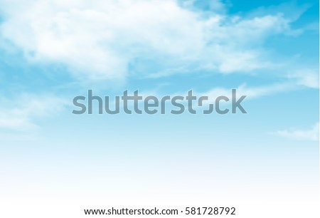 Shutterstock Blue sky with clouds. Vector background.