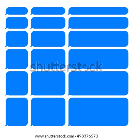 blue smartphone sms chat blank