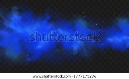 blue smoke isolated on dark