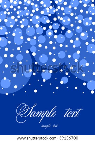 blue snow background with text