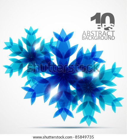 blue snowflake abstract