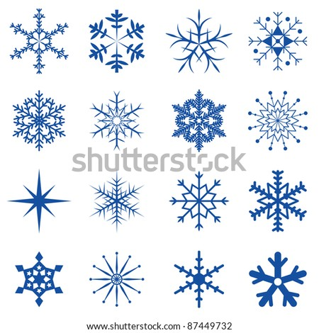 Blue Snowflakes Part I