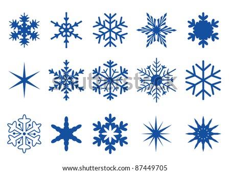 Blue Snowflakes Part II