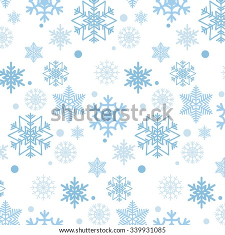 Blue snowflakes pattern.