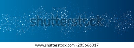 blue social network mesh....