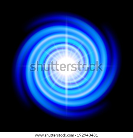 blue space spiral with bright