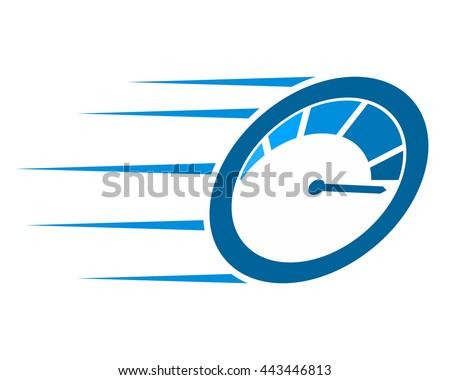 blue speedometer