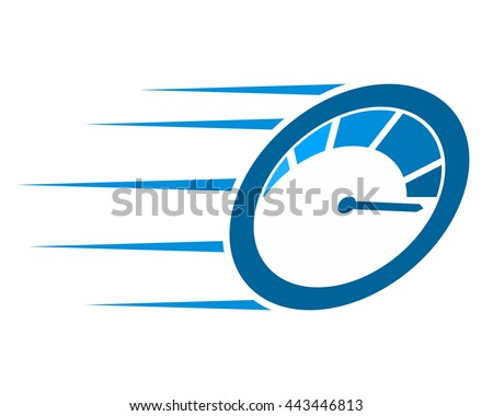 blue speedometer fast speed automotive image vector