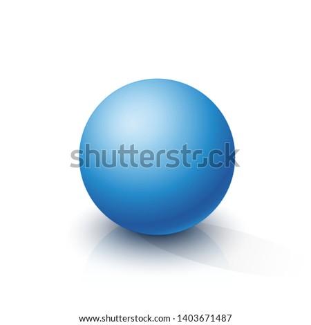 Blue sphere on a white background. Vector illustration