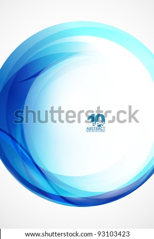 Blue sphere wave abstract background