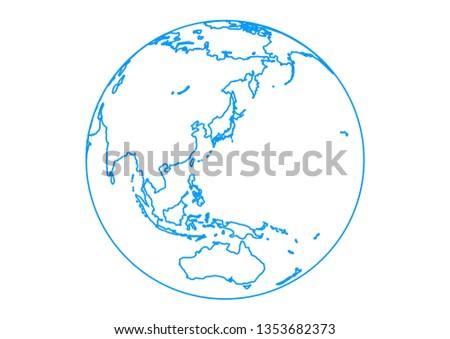 blue spherical earth