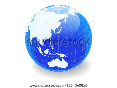 blue spherical earth