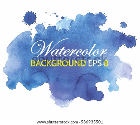 stock-vector-blue-spot-watercolor-paint-with-smudges-the-paint-flows-drops-splashes-background-in-grunge