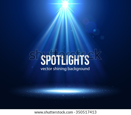 Blue Spotlight. Vector illustration