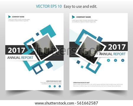 Blue square annual report Leaflet Brochure Flyer template design, book cover layout design, abstract business presentation template, a4 size design