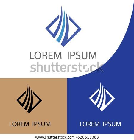 blue square arrow company logo
