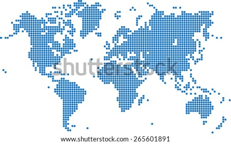 Pixel world globe map vector download free vector art stock blue square world map on white background vector illustration gumiabroncs Images