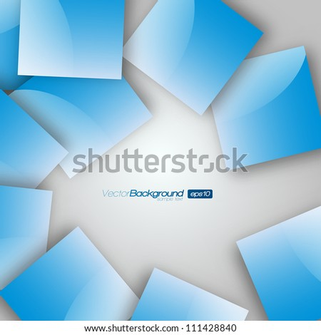 Blue Squares blank background - Vector Design Concept