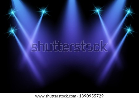 Blue stage background vector eps10. #1390955729