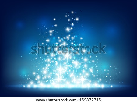 blue starry background with