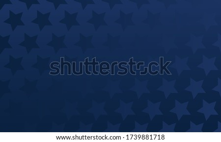 Blue stars over dark blue gradient background, repeatable Foto stock ©