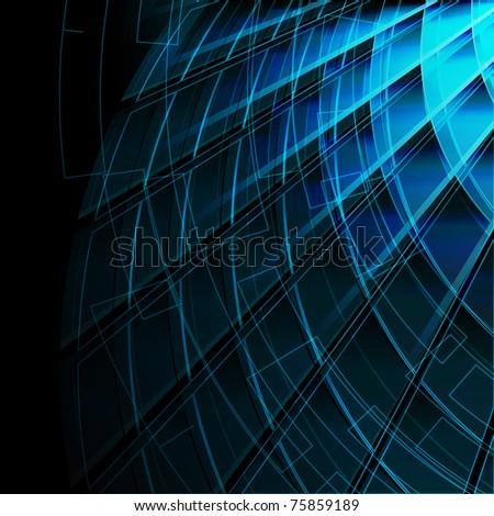 Blue stylish fantasy background