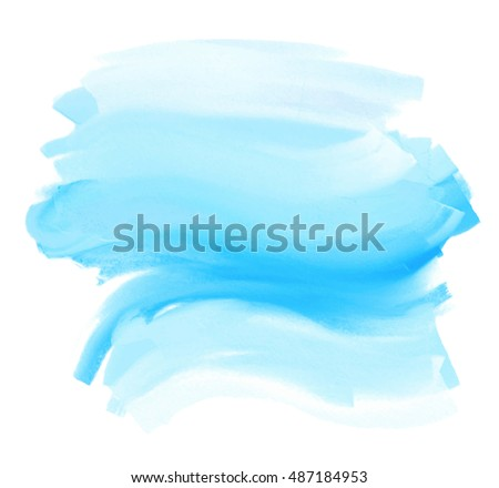 blue stylized watercolor hand