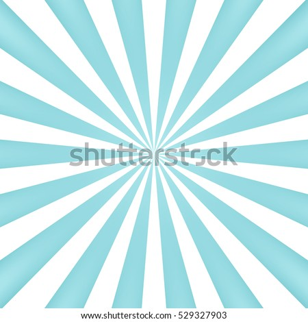 Blue sun rays background - Vector