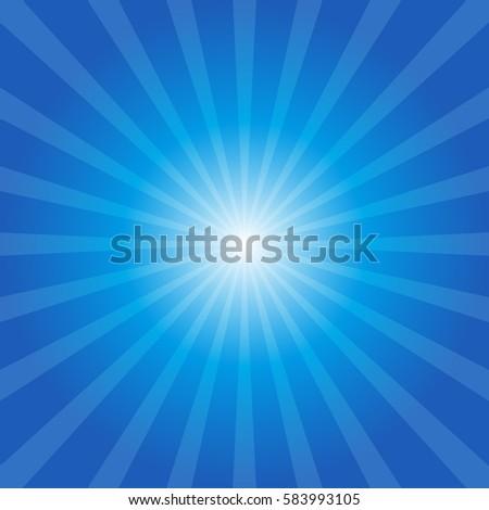 blue sunburst background