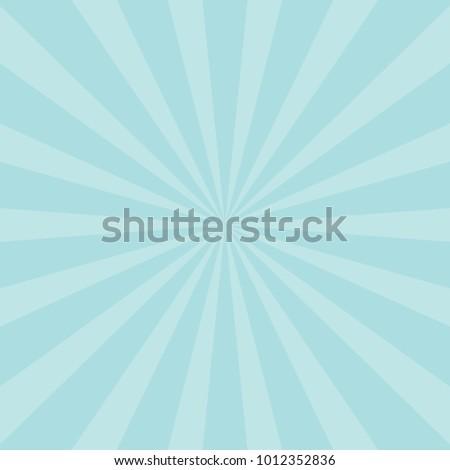 Blue Sunburst Pattern Abstract Background. Ray. Radial. Vector Illustration