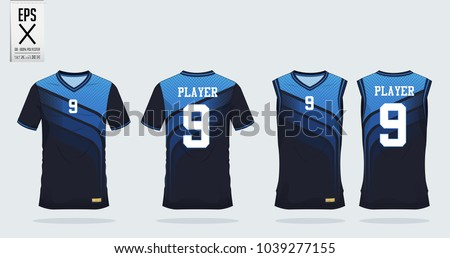 blue t shirt sport design